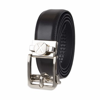 Exact Fit Men's Golf Buckle Belt with Ball Marker and Track Lock Technology