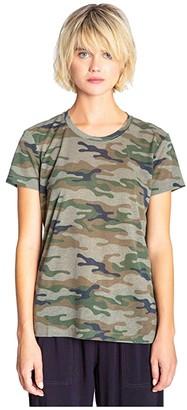 PJ Salvage Weekend Warrior Army Tee (Olive) Women's Clothing