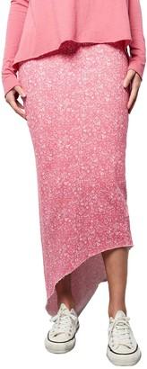 Frank And Eileen Long Floral Print Asymmetric Skirt