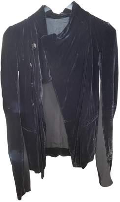 Rick Owens Black Velvet Jackets