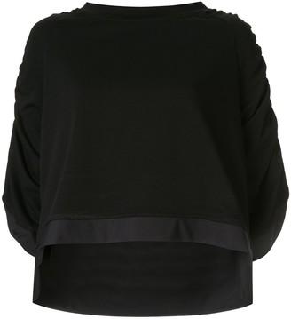 Taylor Minimize draped sleeve top
