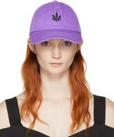 Palm Angels Purple Vintage Weed Cap
