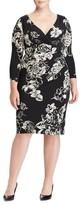 Lauren Ralph Lauren Plus Size Women's Floral Faux Wrap Jersey Dress