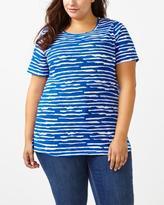 Penningtons Curve Fit Printed Cotton T-Shirt
