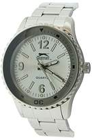 Slazenger Men's Quartz Watch with White Dial Analogue Display and Silver Bracelet SLZ63/A