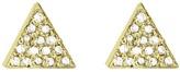 Jennifer Meyer diamond triangle stud earring