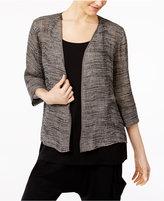 Eileen Fisher Organic Linen-Blend Open-Front Kimono Jacket