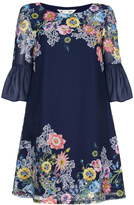 Yumi Floral Sleeved Tunic Dress