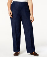 Alfred Dunner Plus Size Gypsy Moon Collection Pull-On Denim Trousers