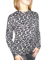 Knitwit - Women's Cashmere Snow Leopard L/S Tee