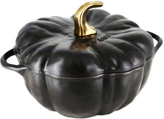 Staub 3.5-Qt. Pumpkin Cocotte, Matte Black