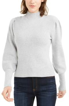 Bar III Ribbed Puff-Sleeve Sweater, Created For Macy's