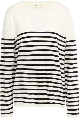 Kate Spade Appliqued Striped Knitted Sweater