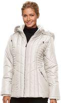 Details Women's Hooded Smocked Puffer Jacket