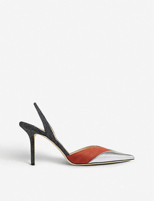 Jimmy Choo Thia 85 panelled leather courts