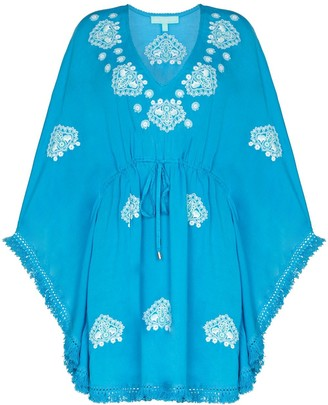 Melissa Odabash Embroidered Detail Mini Dress