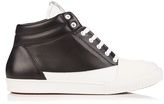 Marni Bi-colour high-top leather trainers