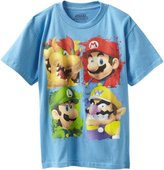 Nintendo Boys 8-20 Mario Character In A Box Short Sleeve Tee