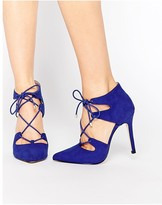 Carvela Kayleigh Ghillie Lace Point Heeled Shoes