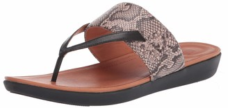 FitFlop Women's Delta Toe-Thong Sandals-Leather Print