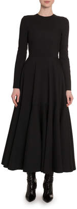 Valentino Crepe Couture Ankle-Length Dress