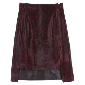 Akris \N Red Leather Skirts