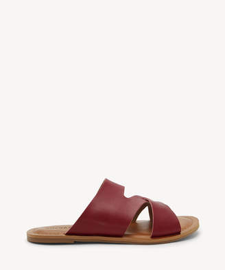 Lucky Brand Women's Leelan Flat Sandals Caramel Size 5 Leather From Sole Society