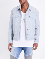 Balmain Metal-mesh denim jacket