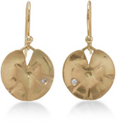 Annette Ferdinandsen 18K Gold Medium Lily Pad Earrings