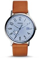 Fossil Vintage Muse Three-Hand Date Dark Brown Leather Watch
