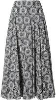 Derek Lam printed full skirt - women - Cotton - 48