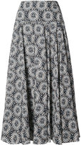 Derek Lam printed full skirt