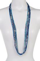 Joe Fresh Long Multi Row Bead Necklace