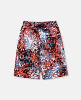 Stella McCartney bix red camouflage swim shorts