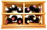 11-15/16 in. H x 18-11/16 in. W x 13-1/2 in. D Wine Glass Rack Mini Stack Series - Open Bin Light Stain Wine Rack