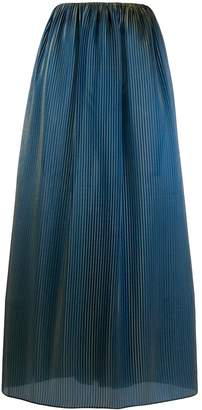 Romeo Gigli Pre-Owned 1996 iridescent pleated skirt