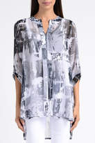 Lynn Ritchie Grey Chiffon Tunic Top