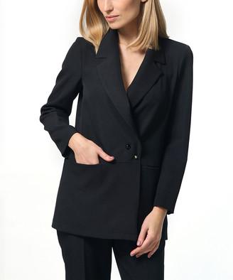 LADA LUCCI Women's Blazers Black - Black Blazer - Women & Plus