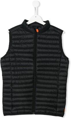 Save The Duck Kids TEEN plain padded vest