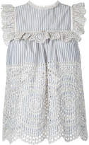 Zimmermann striped broderie anglaise top