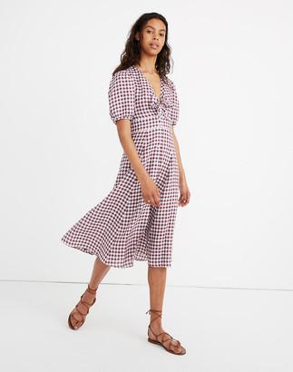 Madewell Sessun Linen Juliet Midi Dress