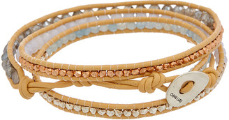 Chan Luu Silver Gemstone & Leather Wrap Bracelet