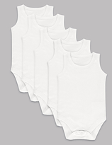 Autograph 5 Pack Pure Superfine Cotton Bodysuits