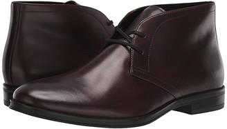 Calvin Klein Wolfe (Mahogany Crust Leather) Men's Shoes