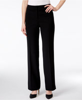 Kasper Curvy-Fit Straight-Leg Pants