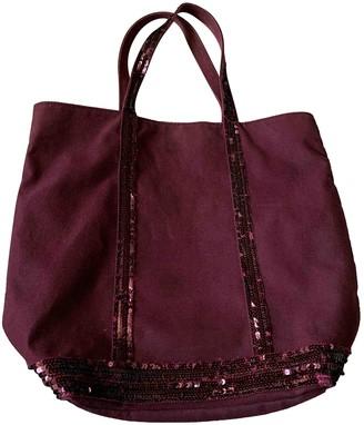 Vanessa Bruno Cabas Burgundy Cloth Handbags
