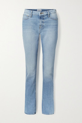 Frame Le Mini Boot Mid-rise Jeans - Light denim
