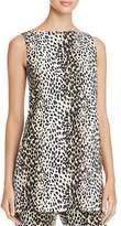 Max Mara Nino Leopard-Print Cutout Tunic