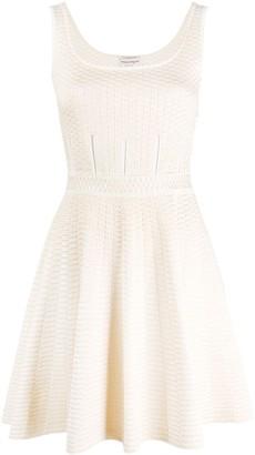 Alexander McQueen Textured Knitted Dress