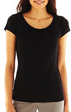 JCPenney Worthington® Essential Scoopneck Tee - Petite